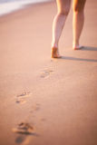 Beach footprint Stock Images