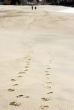 Beach footprints Stock Photo