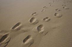 beach footprints royaltyfria bilder