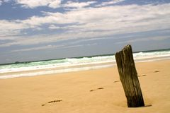 Beach Footsteps. Surf and footsteps Royalty Free Stock Photography
