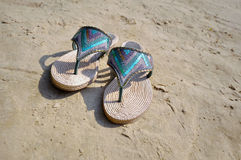 Beach footwear Royalty Free Stock Images