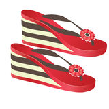 Beach footwear. Vector illustration Royalty Free Stock Image