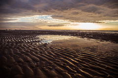 Beach in Formby. After rainy day Royalty Free Stock Images
