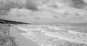 Beach in formentera black and white Royalty Free Stock Photo