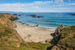 The beach of Fort Bragg, California Stock Images