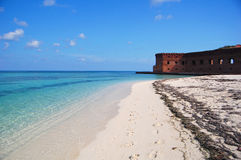 Beach at fort jefferson Royalty Free Stock Image