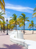 The beach at Fort Lauderdale in Florida. On a beautiful sumer day royalty free stock images