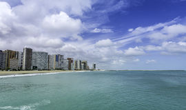 Beach of Fortaleza in Ceara state Royalty Free Stock Image