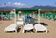 Beach Forte Dei Marmi, Italy Royalty Free Stock Photography