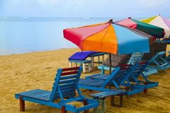 Beach in Foulpointe, Madagascar Royalty Free Stock Photo