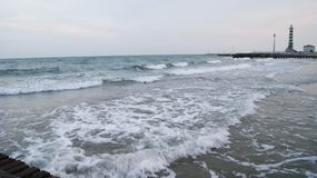 Evening beach of Italy Royalty Free Stock Images