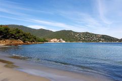 Beach in French riviera Royalty Free Stock Photos