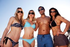 Beach Friends Portrait Stock Photography