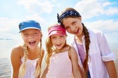 Beach friendship stock image