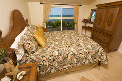 Beach-front Bedroom Stock Images