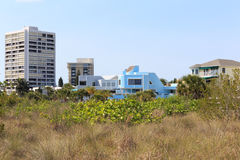 Beach Front Condos Royalty Free Stock Photos