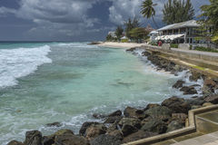 Beach front at Hastings Rocks, Barbados, West Indies Royalty Free Stock Images