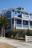 Beach Front Home. Large ocean front home with decks Royalty Free Stock Photography