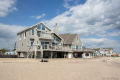 Beach front homes in Old Saybrook Connecticut Stock Photos