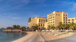 Beach front hotels in Abu dhabi Stock Photos