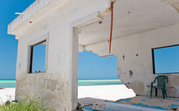 Beach-Front House Storm Damage Stock Images