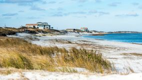 Beach Front Houses at the coast stock images