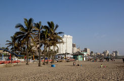 Beach Front Promenade in Durban South Africa Stock Image