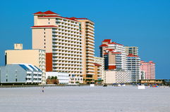 Beach Front Property. Condos and hotels on the beach stock photography