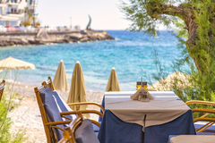 Beach front restaurant Stock Photography