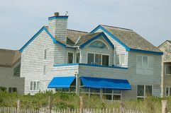 Beach front shore home Stock Image