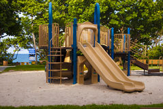 Beach front tropical kids park royalty free stock photography