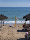 Beach in Fuengirola on the Costa Del Sol Spain Stock Image