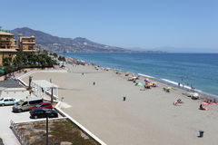 Beach of Fuengirola, Spain Royalty Free Stock Photo