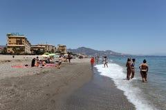 Beach of Fuengirola, Spain Royalty Free Stock Photography