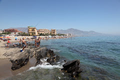 Beach in Fuengirola, Spain Royalty Free Stock Photography