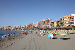 Beach in Fuengirola, Spain Stock Images