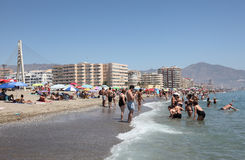 Beach in Fuengirola, Spain Royalty Free Stock Photo
