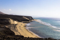 Beach in Fuerteventura stock photography