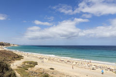 Beach in Fuerteventura stock image