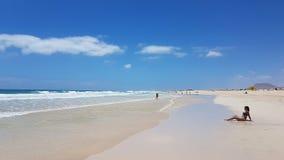 Beach on Fuerteventura Island Stock Image