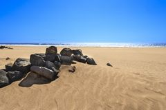 Beach in Fuerteventura island. A beach named el cotillo in Fuerteventura island, part of Canary islands Stock Image
