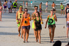 Beach before the full moon party in island Koh Phangan, Thailand Stock Photography