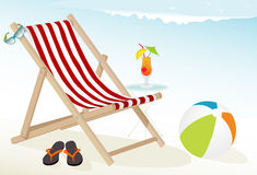 Beach Fun Icons Stock Photo