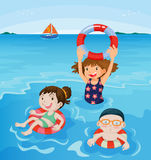 Beach fun Stock Images