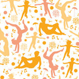 Beach fun seamless pattern background Royalty Free Stock Image