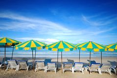 Beach furniture Royalty Free Stock Images