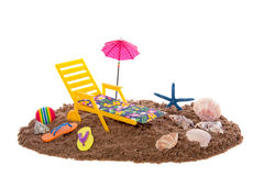 Beach furniture and toys Stock Images
