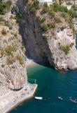 Beach Furore village, Amalfi peninsula Royalty Free Stock Photography