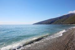 Beach in the Gagra, Abkhazia Royalty Free Stock Photo