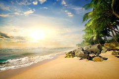 Beach in Galle Stock Images